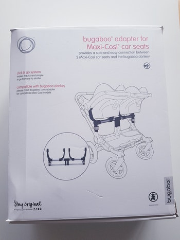 Bugaboo - Adapter / adaptateur double / twin pour sièges Maxi-Cosi