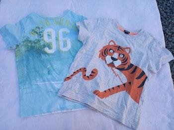 Lot de 2 t-shirts garçon 6 ans