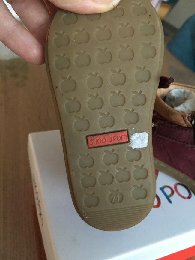 Baskets bottines mixte bordeaux cuir Shoo Pom 21