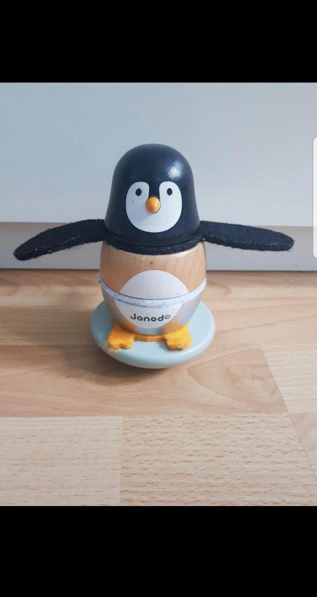 Culbuto Pingouin Zigolos en Bois - Janod