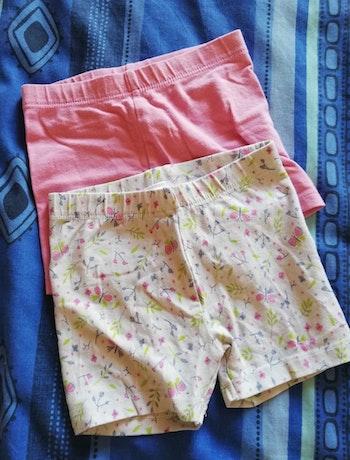 Lot de deux shorts tissu