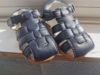 Sandales cuir marine