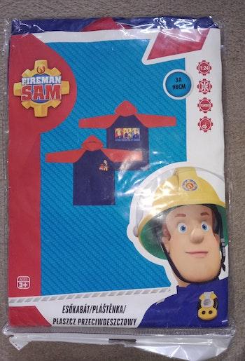 3 ans imperméable k-way capuchon veste de pluie Fireman Sam le pompier