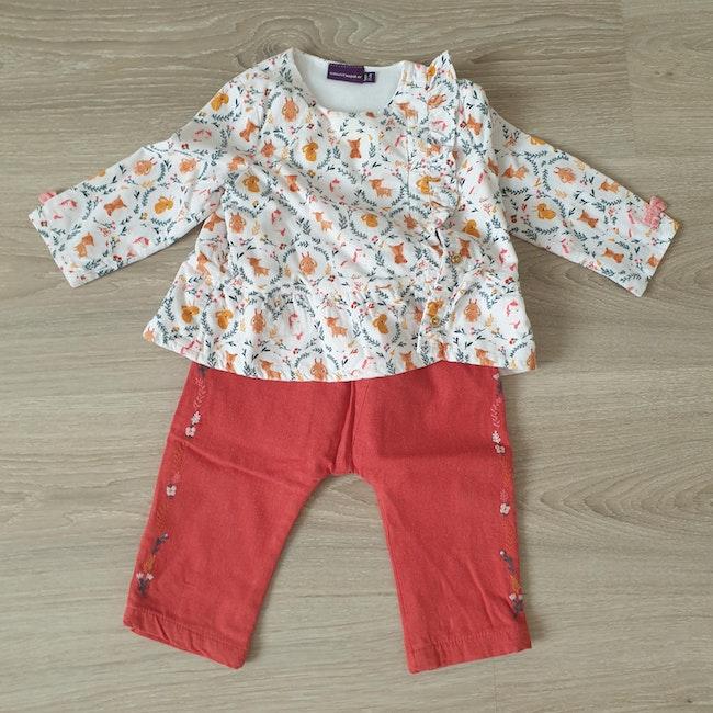 Ensemble blouse et pantalon 9 mois