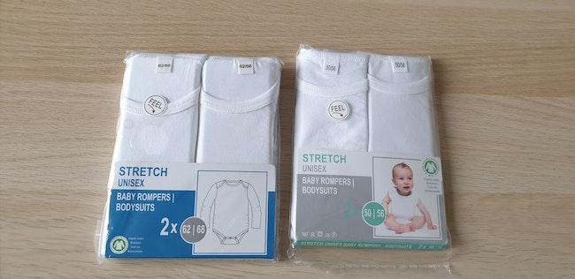 Lot de 4 bodies coton bio de 1 à 3 mois