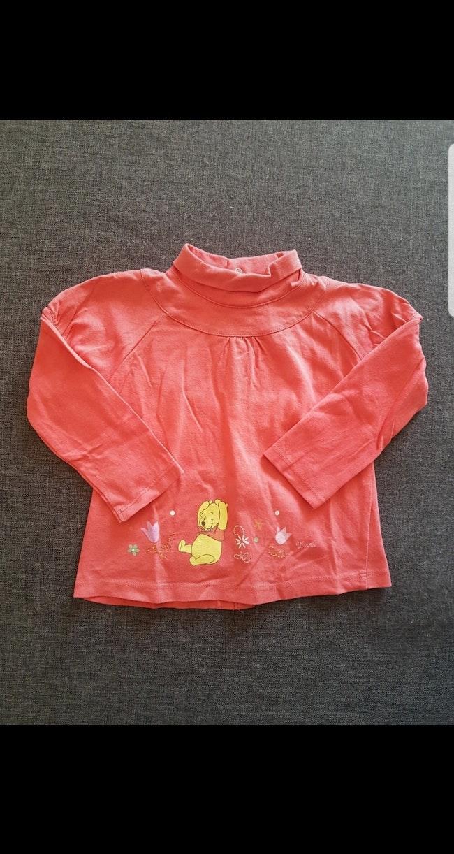 Tee-shirt manches longues col roulé Winnie fille 18 mois