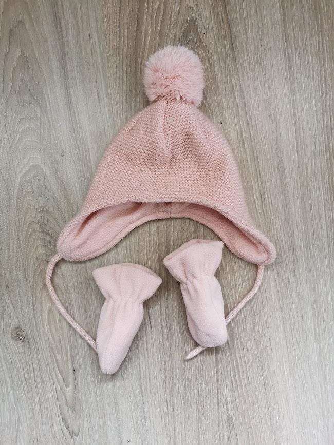 Bonnet + gants 1 mois