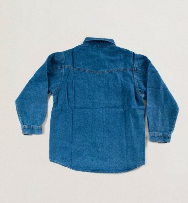 Chemise en jean boutons bois soleil / 9 ans