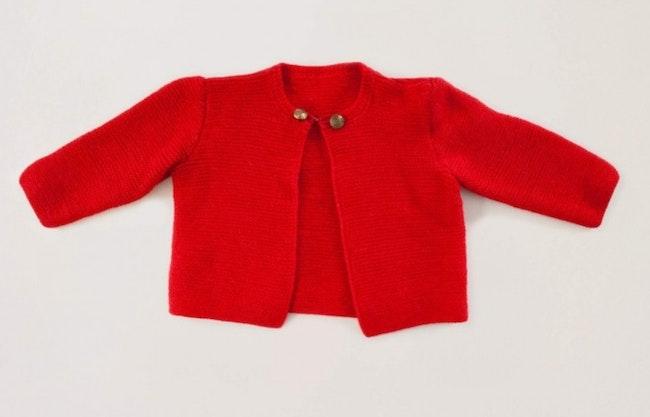 Gilet tricot boutons dorés / 3 ans
