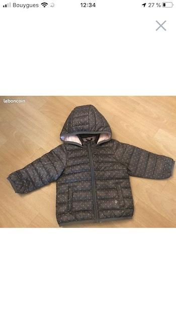 Manteau imperméable fille taille 18 mois