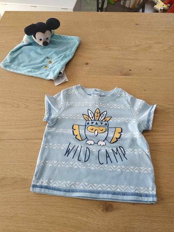 Tee shirt bleu 6 mois