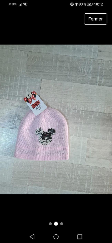 Bonnet Minnie taille unique tête Minnie change de couleur
