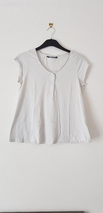 Ensemble pyjama MC blanc et gris
