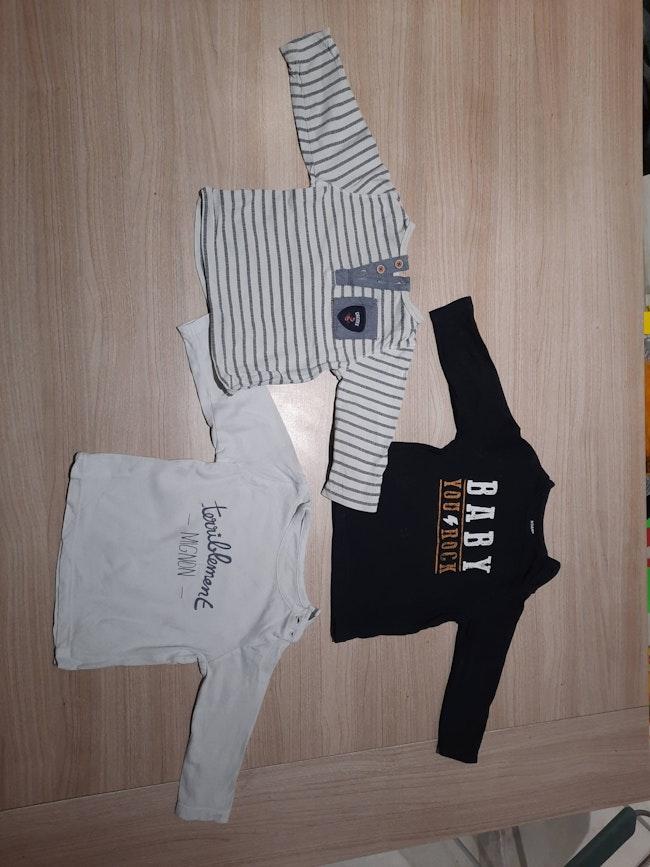 Lot 15 t-shirt manche longue