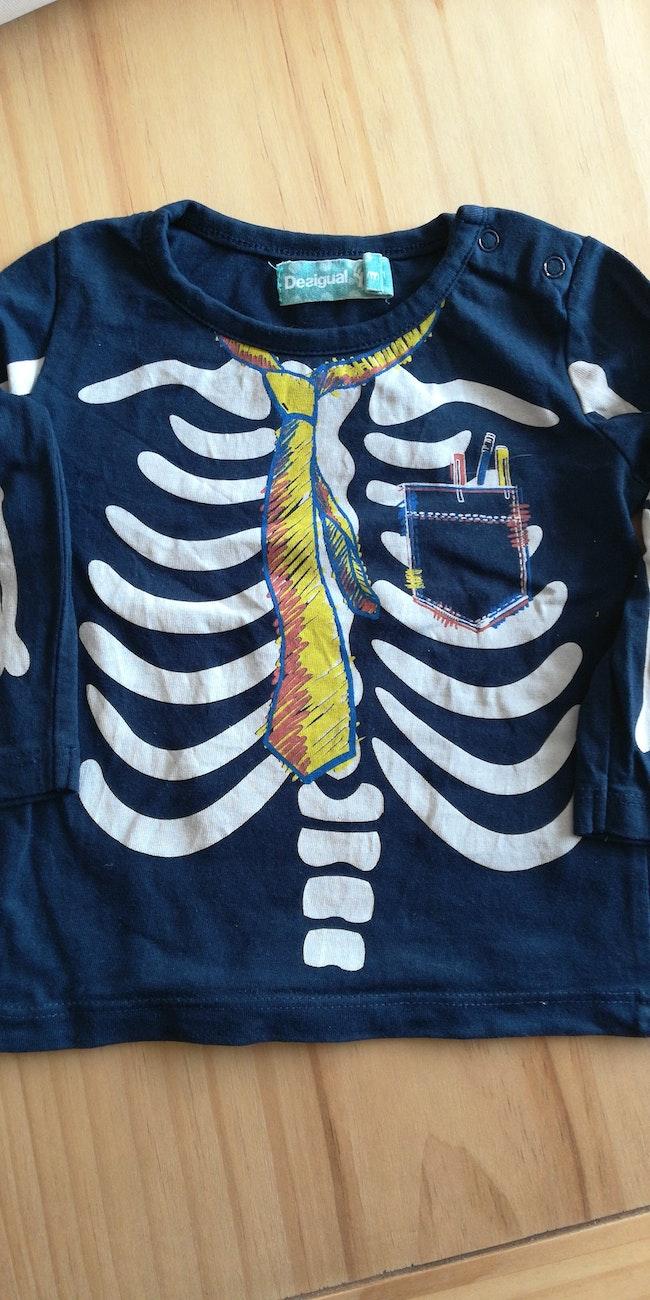 T shirt manches longues squelette