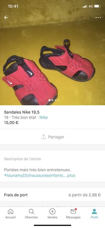 Sandales Nike
