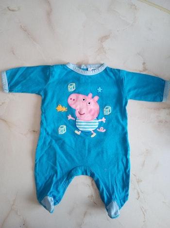 Pyjama garçon Peppa Pig 1 mois