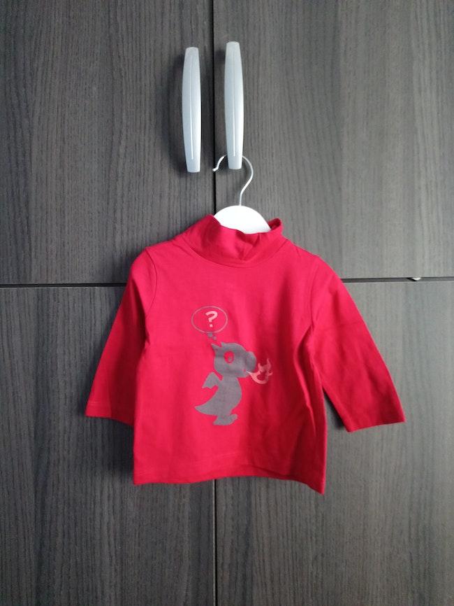 T shirt rouge à manches longues Kitchoun 6 mois
