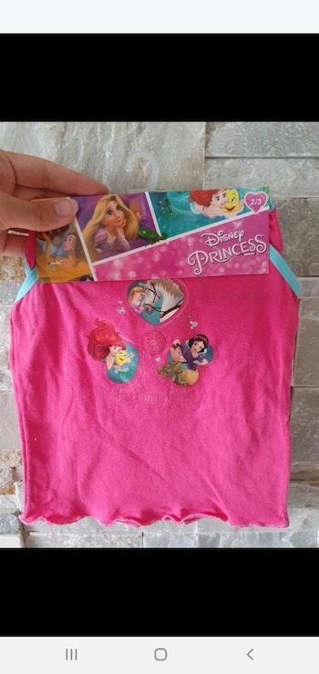 Ensemble sous vêtements débardeur et culotte princesses Disney taille 2/3ans
