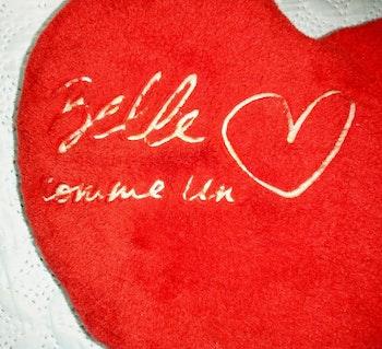 Coussin coeur joli message