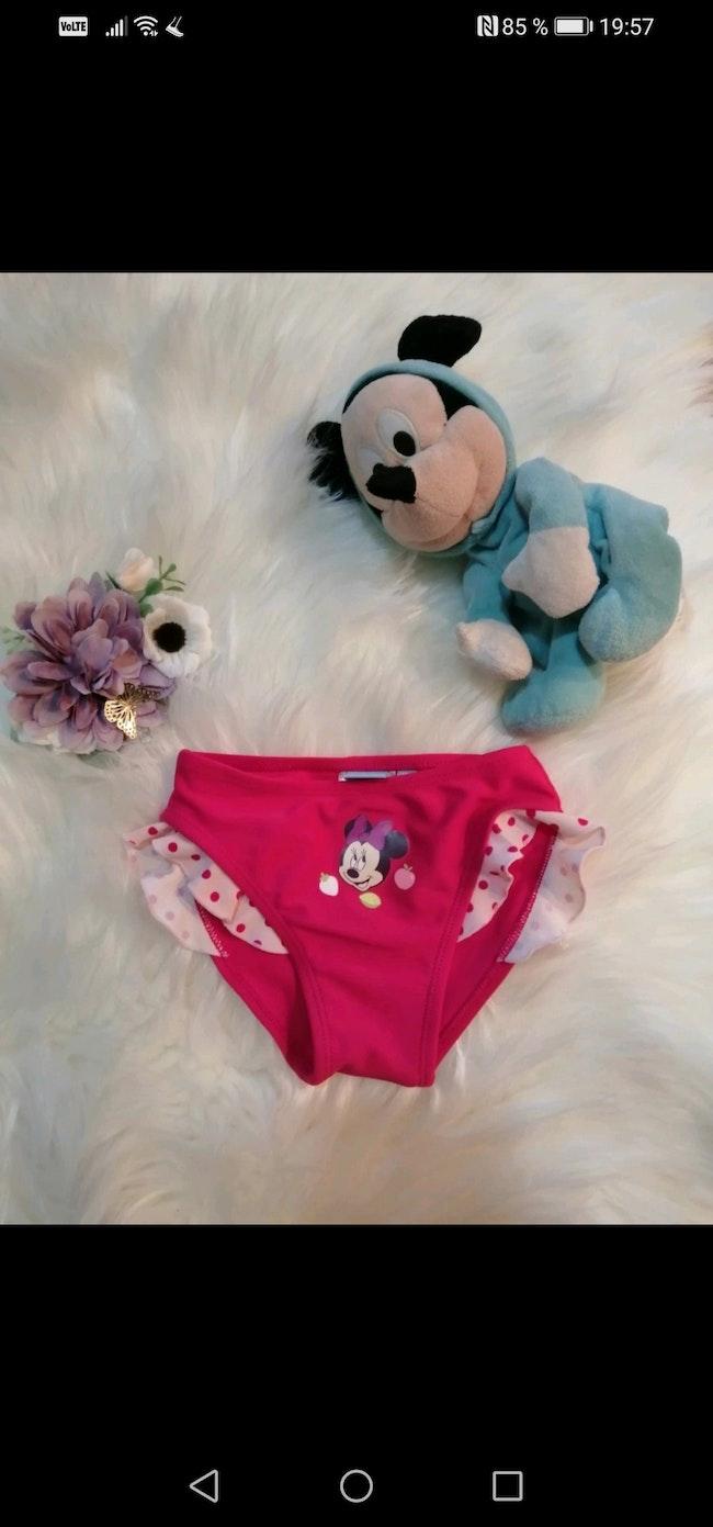 Culotte de bain bébé fille Disney 12 mois.