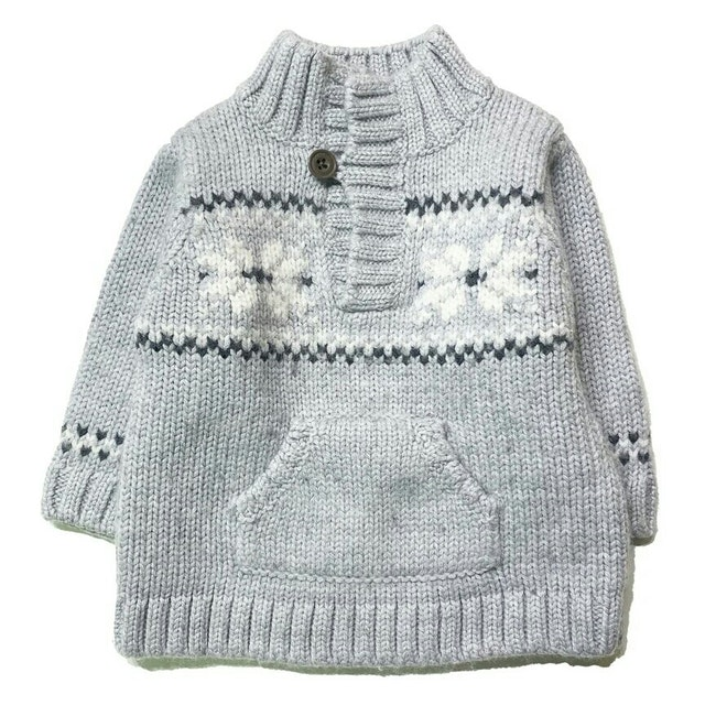 Pull gris 6 mois