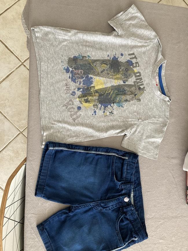 Lot de 2 T-shirts et 1 ensemble 5-6ans