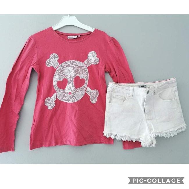 12 ans fille #cathlaul12ans ensemble tenue tee-shirt, short