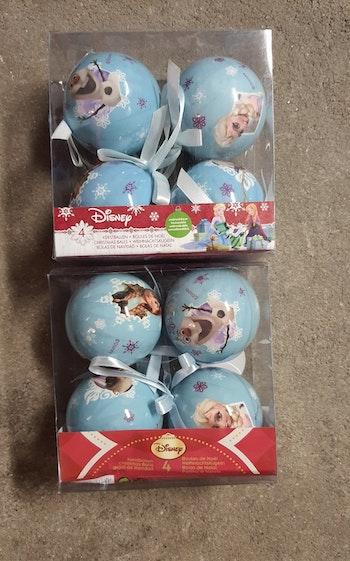 Boules de Noël la reine des neiges disney
