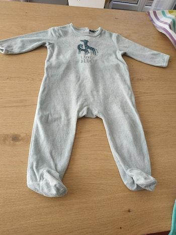 Pijama vert clair 12 mois