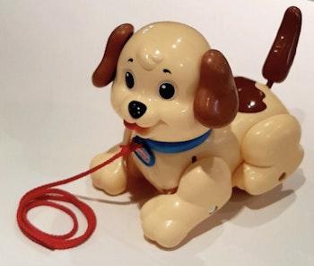 Fisher Price Petit Snoopy Lil chien à tirer éveil bébé pull along dog lot SOP77