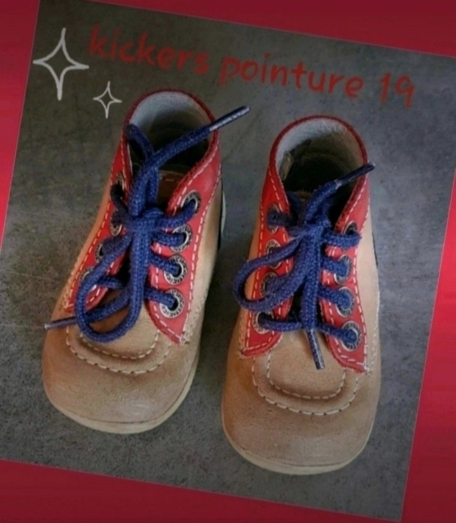 Chaussures kickers pointure 19