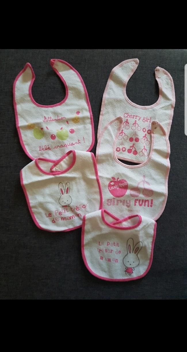 Lot de 5 bavoirs bébé fille