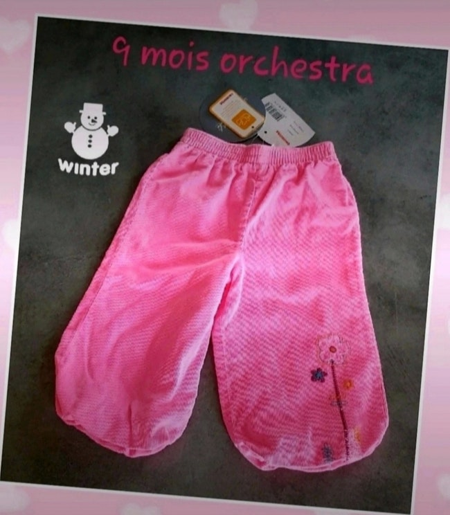 Pantalon hiver 9 mois orchestra