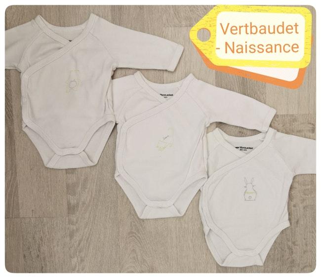 Lot de 3 bodies Vertbaudet Naissance