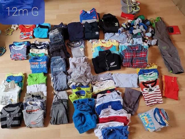 Vêtements garçons 12 mois 1€ piece ou 90€ lot