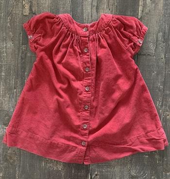 Robe Petit Bateau velours couleur framboise 12 mois
