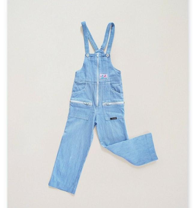 """Salopette en jean millerais patch """"Papillon"""" / 6 ans"""