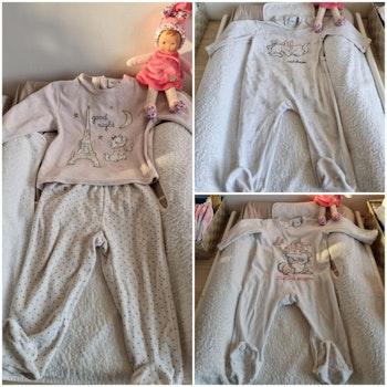 Lot de 3 pyjamas marie/pan pan 18 mois