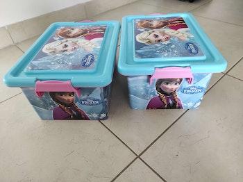 Lot de 2 boîtes de rangement Frozen reine des neiges