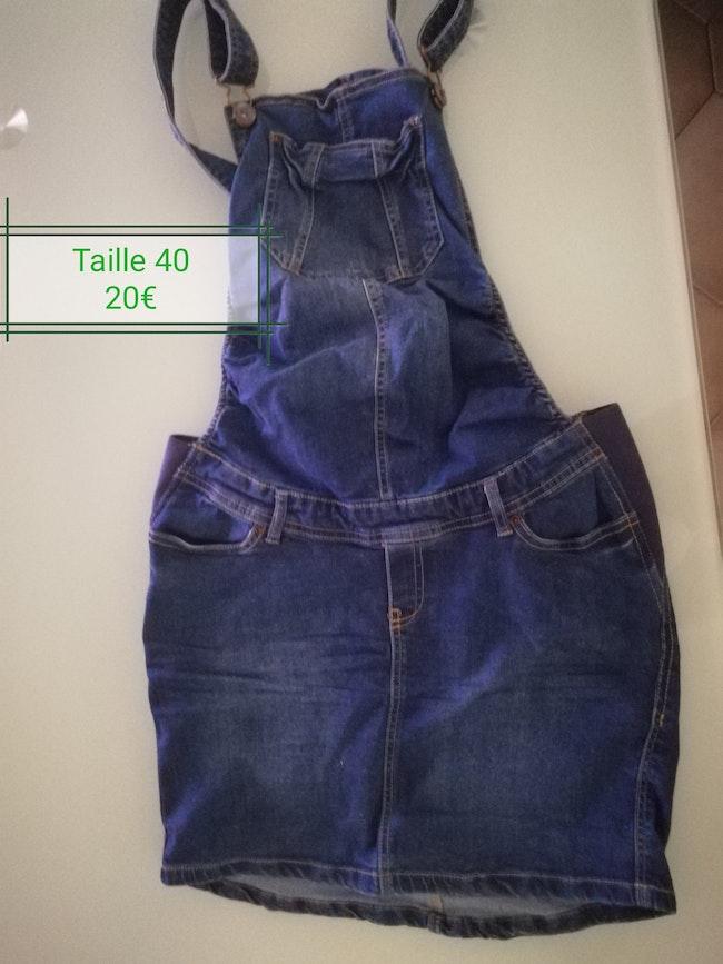 Jupe salopette en jean