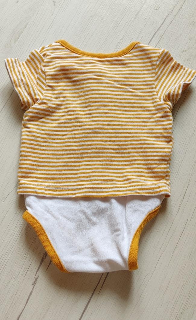Body bébé effet t-shirt