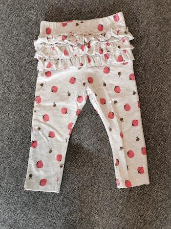 Pantalon/legging motif fraise, taille 9 mois