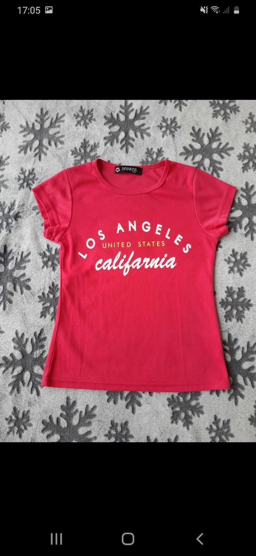 Tee-shirt rose framboise 8 ans