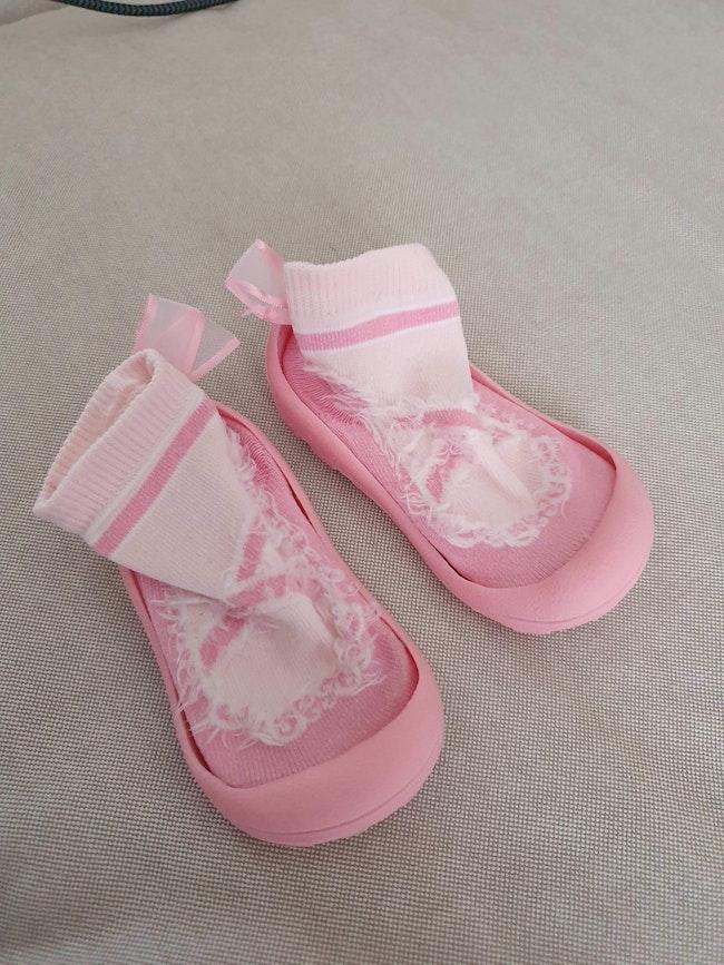 Chaussons rose bébé fille pointure 20