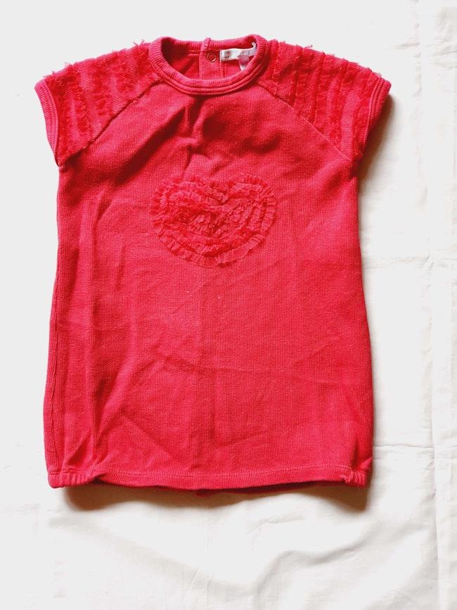 Robe rouge coeur