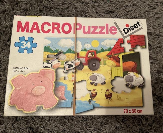 Macro Puzzle «Ferme» 34 pces DISET