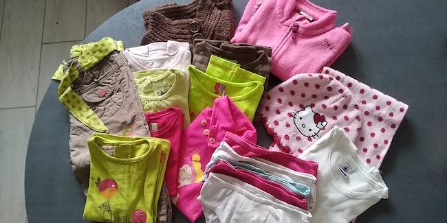 Lot  de vêtements hiver fille 2 ans