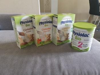 Physiolac bio lait sans huile de palme+céréales