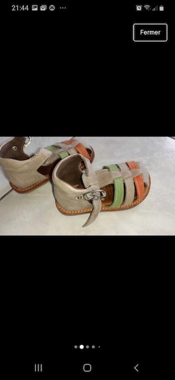 Sandales en cuir garçon pointure 20